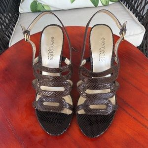 Elements by Nina Brown Heeled Sandals - Size 7